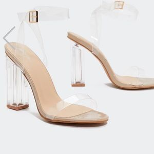 Lucite Heels (New in box!)